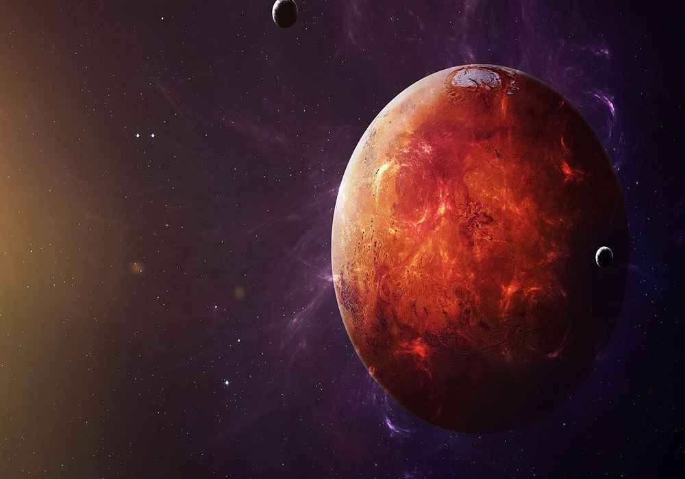مریخ بسیار سردتر از زمین است ودمای ان به منفی 63 درجه می رسد